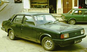 Morris Ital - The Ital was also assembled in Portugal, where it retained the predecessor model's Marina designation. The car in this picture has a mid-1970s Portuguese registration plate.