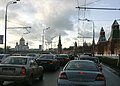 Moscow, traffic congestion along the Kremlin wall.jpg