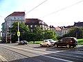 Moskevská, parčík u Kodaňské a Krymské ulice.jpg