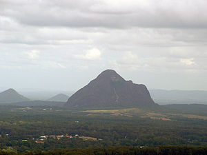 Sunshine Coast, Queensland - Mount Beerwah is part of the Glass House Mountains National Park
