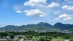 Mount Kinpu (Kumamoto) - Viewed from the E.