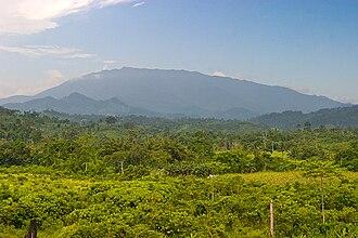 Mount Mantalingajan - The mountain as seen from Ransang, 4 July 2007