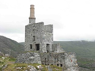 Allihies - Engine house of the Mountain Mine.