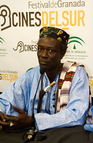 Moussa Sene Absa - Moussa Sène presenting his film Teranga Blues at Granada's International Film Festival (Cines del Sur), 2007