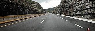Mexican Federal Highway 85 - Carretera federal 85 as it crosses the Paso de Mamulique between Nuevo Laredo and Monterrey