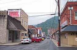Howard Avenue in downtown Mullens in 2007