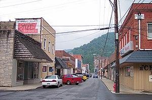 Mullens, West Virginia - Howard Avenue in downtown Mullens in 2007