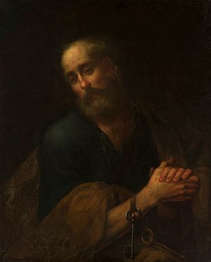 Saint Peter in prayer