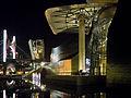 Museo Guggenheim Bilbao-night view-river side.jpg