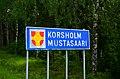 Mustasaari municipal border sign 20190705.jpg