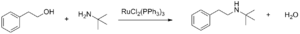 Dichlorotris(triphenylphosphine)ruthenium(II) - Image: N Alkylation