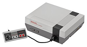 Nintendo Entertainment System - Nintendo Entertainment System with controller