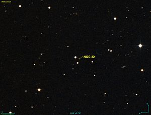 NGC 32 as seen by the Digitized Sky Survey.