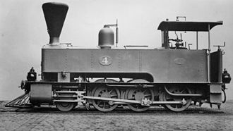 NGR Class K 2-6-0T - NGR no. 4 with a balloon smokestack and Salter safety valves