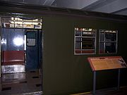 An R30 car on display at the New York Transit Museum.