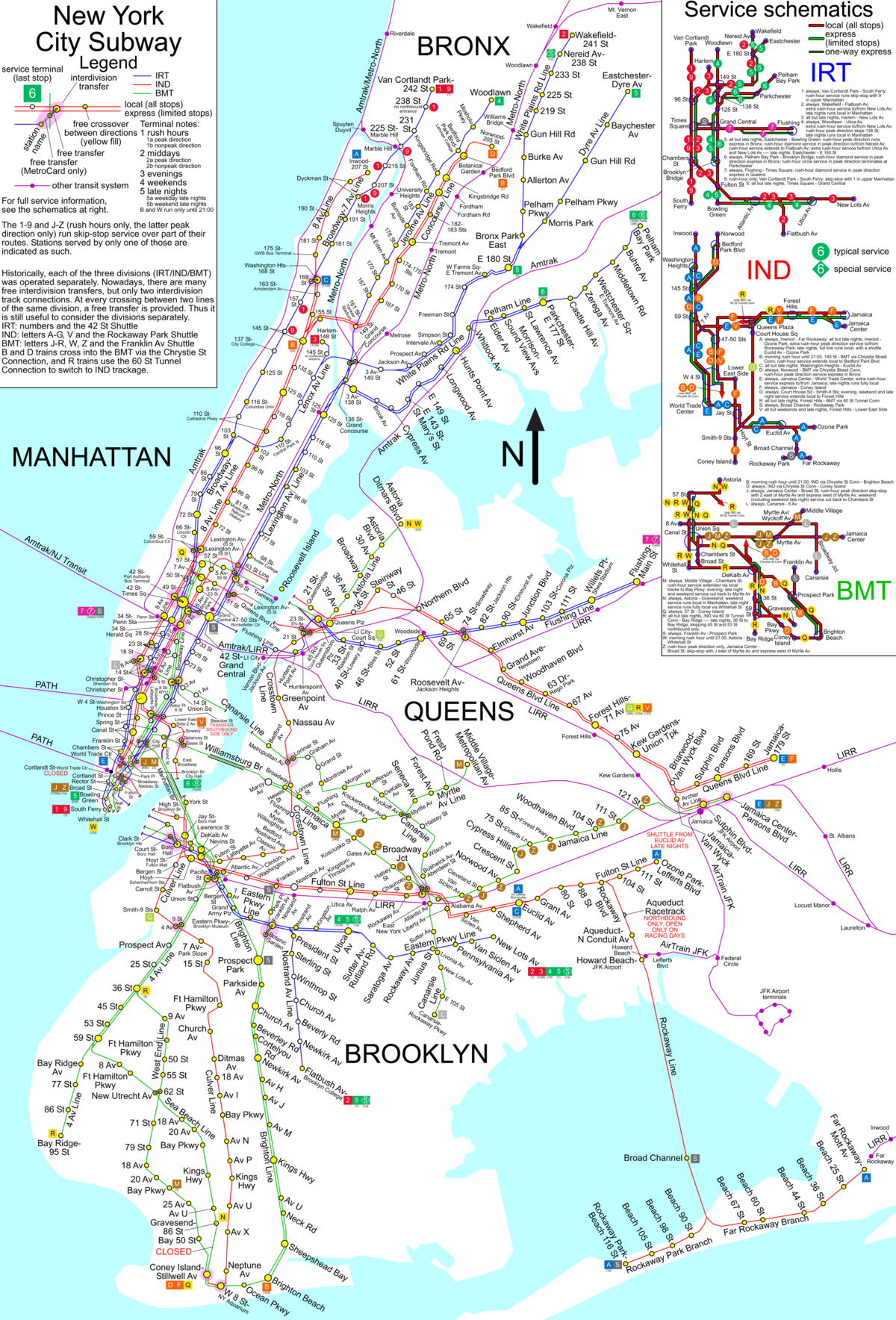 Prospect Park Subway Map.New York City Subway Wikimedia Commons