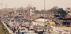 Aerial view of Naharkatiya near Tuesday Market.