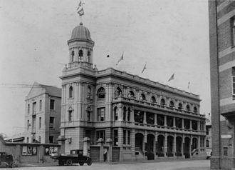 Naldham House - Naldham House, premises of the Australian United Steam Navigation Company, Mary Street, Brisbane, c 1935