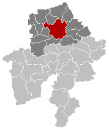 City location within arrondissement and tỉnh Namur