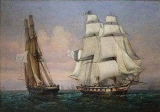 Ambroise Louis Garneray - Garneray:  Return from the Isle of Elba