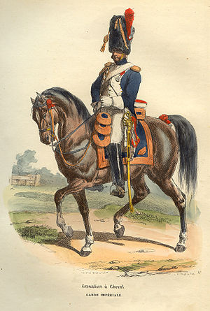French horse mounted grenadier of Napoleon Gua...