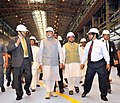Narendra Modi visiting the Rourkela Steel Plant, before its dedication to the Nation, in Odisha. The Governor of Odisha, Shri S.C. Jamir, the Union Minister for Mines and Steel.jpg