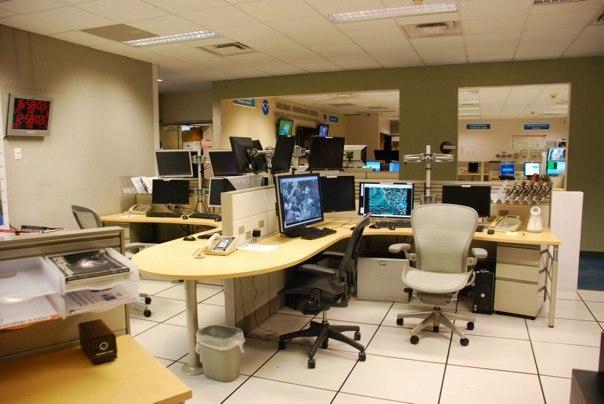 National Hurricane Center HSU desk