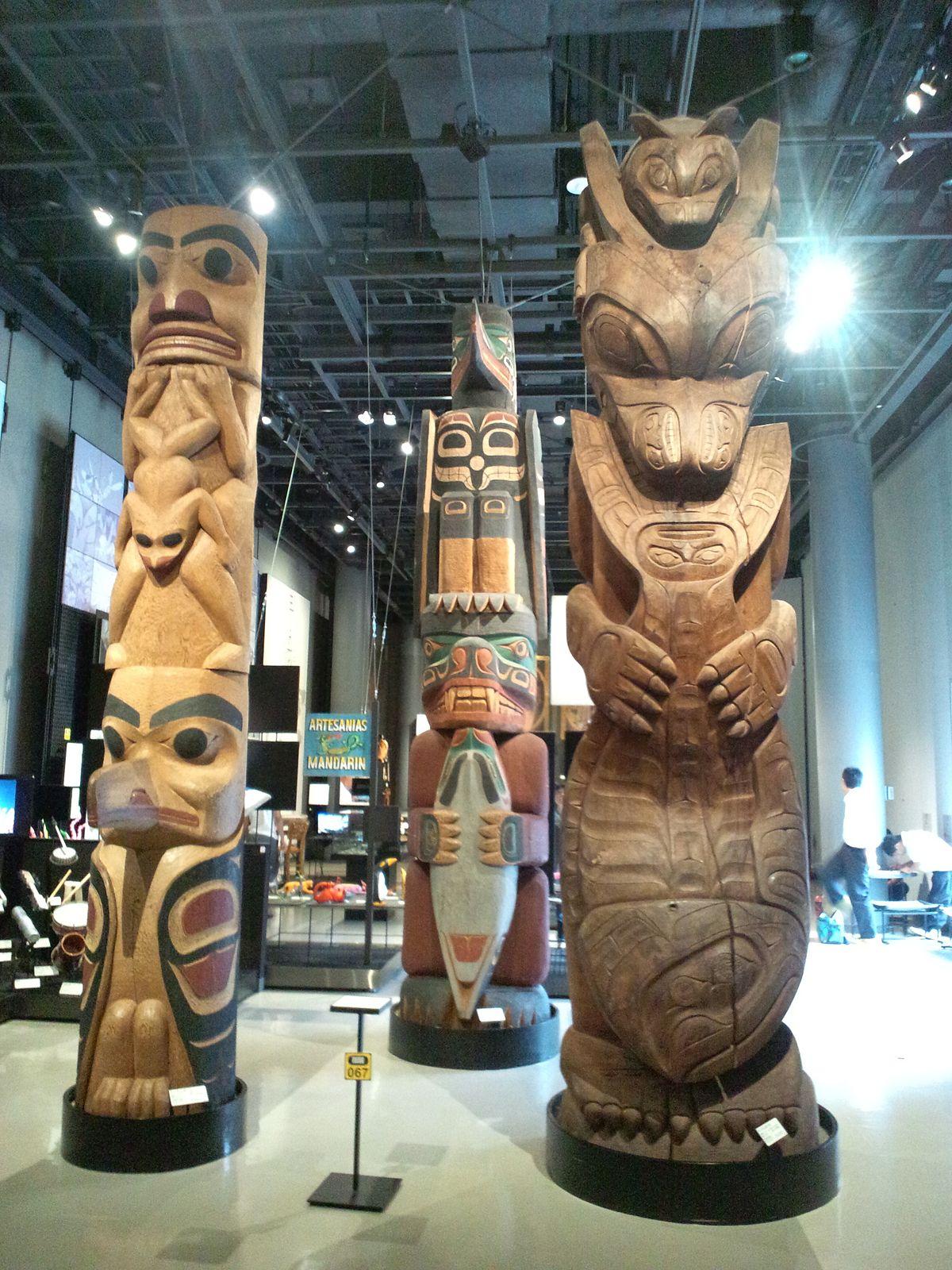 File:National Museum of Ethnology, Osaka - Totem pole ...