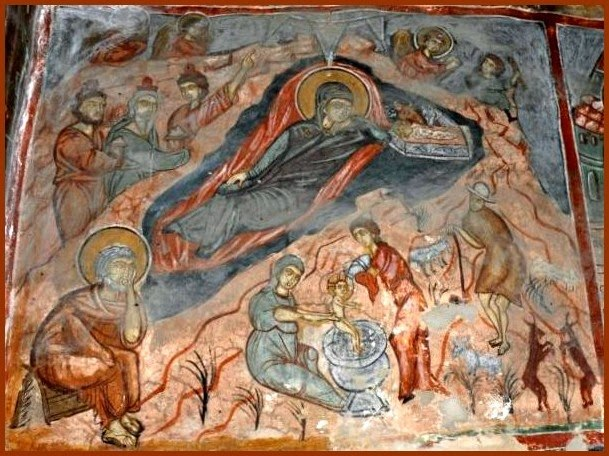 Nativity Eleoussa Prespa Church Fresco