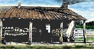 José Antonio Navarro - Navarro's ranch on Geronimo Creek, near Geronimo, Texas, and north of Seguin, Texas. An early concrete house, it has been demolished.