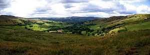 Peak District - A High Peak panorama between Hayfield and Chinley.