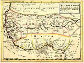 Negroland and Guinea with the European Settlements, 1736