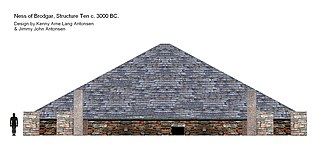 Ness of Brodgar - Structure 10, artistic reconstruction c. 3000 BC.