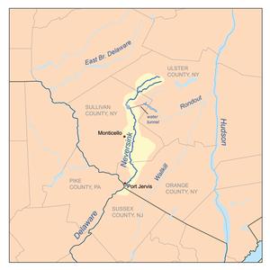Neversink River - Image: Neversinkrivermap