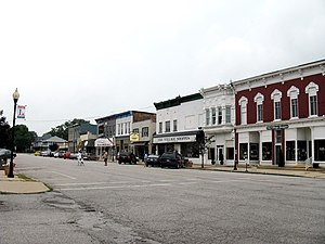 New Carlisle, Indiana - The historic district of New Carlisle is listed on the National Register of Historic Places