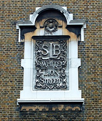London School Board - Plaque on White Lion Street School, Islington, now New River College