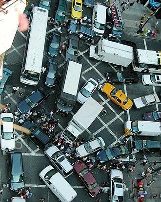 "Gridlock - Vehicles ""blocking the box"" in New York City"