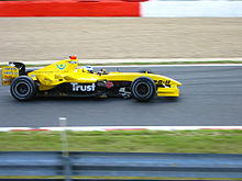 Photo de la Jordan EJ14 de Nick Heidfeld en Belgique