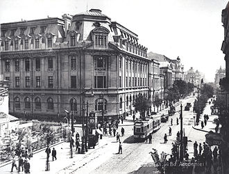 Ilfov County - View of the center of Bucharest in 1928. Bucharest was the capital of the Kingdom of Romania and of Ilfov County in the interwar period.