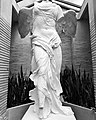 Nike of Samothrace at Darwin Martin House Conservatory Black & White.jpg