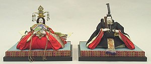 Japanese dolls - Hinamatsuri dolls of the emperor and empress