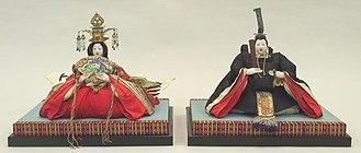Japanese dolls - Hinamatsuri dolls of the emperor and empress