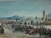 Nodari Giuseppe, I mille attraversano il ponte Ammiraglio di Palermo.jpg
