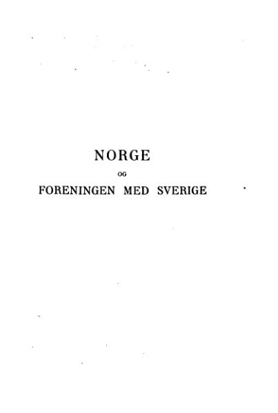 File:Norge og foreningen med Sverige.djvu