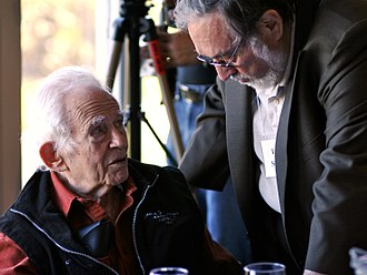 Norman Mailer Society - Mailer and Lawrence Schiller at the 2006 conference