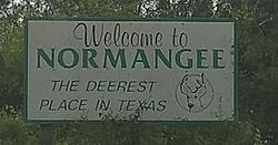 Photo of Welcome Board, Normangee, TX