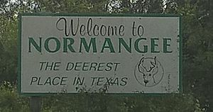 Normangee, Texas - Photo of Welcome Board, Normangee, TX