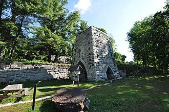 Beckley Furnace Industrial Monument - Image: North Canaan CT Beckley Iron Furnace 1