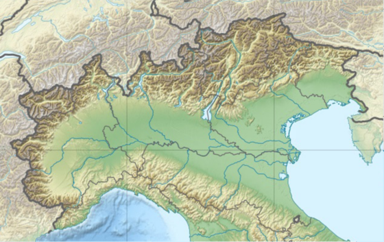 5th Army Corps (Italy) is located in Northern Italy