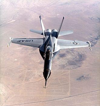 Northrop YF-17 - Frontal view of Northrop YF-17